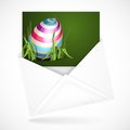 Easter background with eggs in grass postal envelopes greeting card vector illustration eps Royalty Free Stock Photos