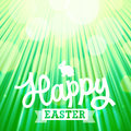 Easter background of green color with sun rays vector eps Stock Photos