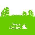 Easter background illustration of with egg and rabbit Royalty Free Stock Image