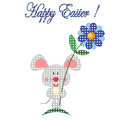 Easter background with mouse isolated on the white Stock Image