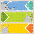 Easter banners Royalty Free Stock Photo