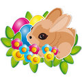 Easter banny and  Easter eggs Royalty Free Stock Photo