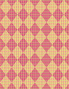 Easter basket argyle weave Royalty Free Stock Photo