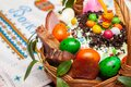 Easter basket. Celebrations. Royalty Free Stock Photo