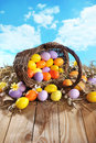 Easter Basket Royalty Free Stock Photo