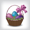 Easter basket eps vector Stock Photo