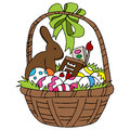 Easter basket an image of an Royalty Free Stock Image