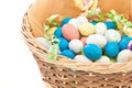 Easter basket isolated on white Stock Images
