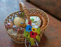 Easter basket national ukrainian Stock Image