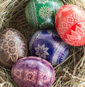 Easter basket is one of the most important catholic holidays of the year Stock Photography