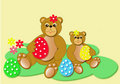 Easter bears Royalty Free Stock Image