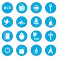 Easter black icon blue