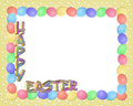 Easter Border eggs 3D text Royalty Free Stock Photos