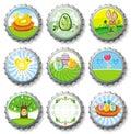 Easter Bottle Caps