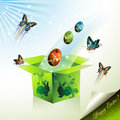 Easter box Stock Image