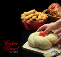 Easter bread dough hands kneading the Royalty Free Stock Images
