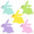 Easter bunnies with bunny patterns
