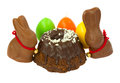 Easter  bunnies with eggs Royalty Free Stock Images