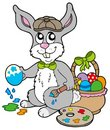 Easter bunny artist Royalty Free Stock Photography