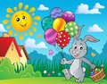 Easter bunny with balloons image 3