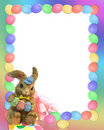 Easter bunny border  Stock Photos