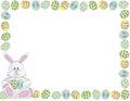 Easter Bunny Border Royalty Free Stock Photo