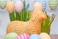 Easter bunny cake with eggs Stock Photos