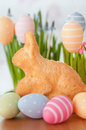 Easter bunny cake with eggs Royalty Free Stock Image