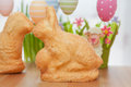 Easter bunny cake with eggs Stock Photo