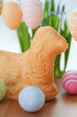 Easter bunny cake with eggs Stock Photography