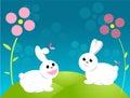 Easter bunny cartoon Royalty Free Stock Photography