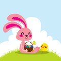 Easter Bunny and Chick Stock Image