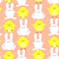 Easter bunny/chick pattern Stock Photo