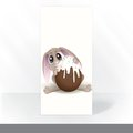 Easter bunny with chocolate egg party invitation card design template vector illustration eps Royalty Free Stock Photography