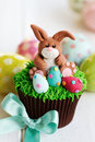 Easter bunny cupcake Royalty Free Stock Images