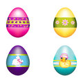 Easter Bunny Decorated with a Bouquet of Eggs Royalty Free Stock Photos