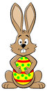 Easter bunny with easter egg vector illustration of an Royalty Free Stock Images