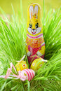 Easter bunny with egg Stock Photos