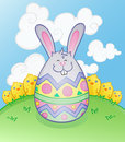 Easter Bunny Egg Character Stock Photos