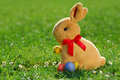 Easter bunny with eggs_2 Royalty Free Stock Image