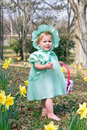 Easter bunny girl Royalty Free Stock Photos