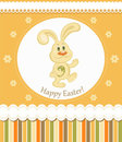 Easter bunny greeting card Royalty Free Stock Photo