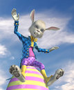 Easter Bunny Having Fun - outdoors Royalty Free Stock Photos