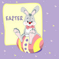 Easter bunny illustration Royalty Free Stock Photo
