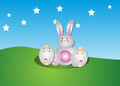 Easter bunny an illustration of a cute Royalty Free Stock Images