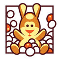 Easter Bunny On Jelly Beans Royalty Free Stock Image