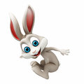 Easter bunny jumping happy brown Royalty Free Stock Photos