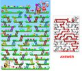 Bunny Rabbit&Easter Eggs Maze for Kids
