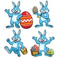 Easter bunny set in cartoon style
