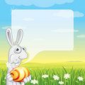 Easter Bunny Speech Royalty Free Stock Image
